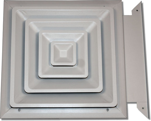 Step Down Diffuser with Slide-in Damper 425-16X16