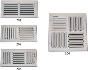 Ceiling Curved Blade Diffuser 202H-10X8