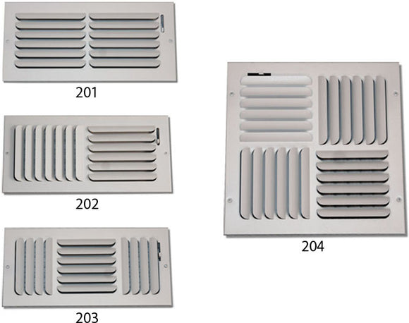 Ceiling Curved Blade Diffuser 201H-10X8