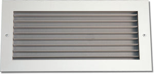 Aluminum Airfoil Blade Grille - Horizontal Fixed Blade 907-10X6