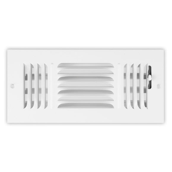 845 Series 3-Way Stamped Face Ceiling / Sidewall Diffuser - 10 x 08