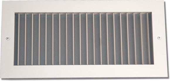 Aluminum Airfoil Blade Grille - Vertical Fixed Blade 908-8X38