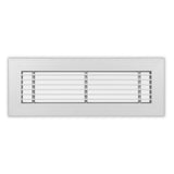 "LF-1/2-0 Series - Aluminum Linear Floor Grille For 2"" Wide Opening 1/2"" Bar Centers -  0° - No Damper"