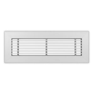 "LF-1/2-20  Series - Aluminum Linear Floor Grille For 1-1/2"" Wide Opening 1/2"" Bar Centers -  20° - No Damper"