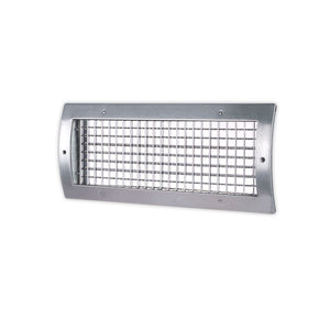 RS34 Radius Flush Mount Double Deflection Spiral Diffuser - 12 x 4