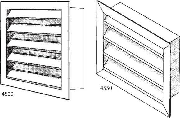 Weather-Proof Louver S/F 4500-72X16