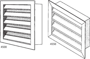 "Stationary 2"" Air Louver 4550-72X36"