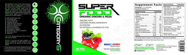 SuperFood: Organic Greens & Reds Category5