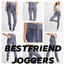 "Load image into Gallery viewer, Shadow Grey - Best Friend Pocket Joggers - 5"" Drawstring Yoga Band"