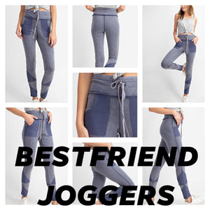 "Chocolate - Best Friend Pocket Joggers - 5"" Drawstring Yoga Band"