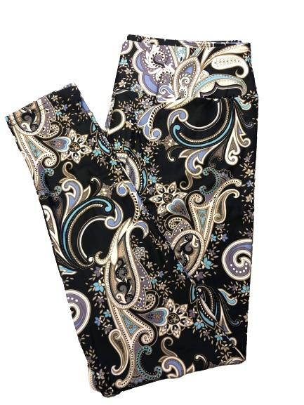 Paisley v2 Full Length Leggings