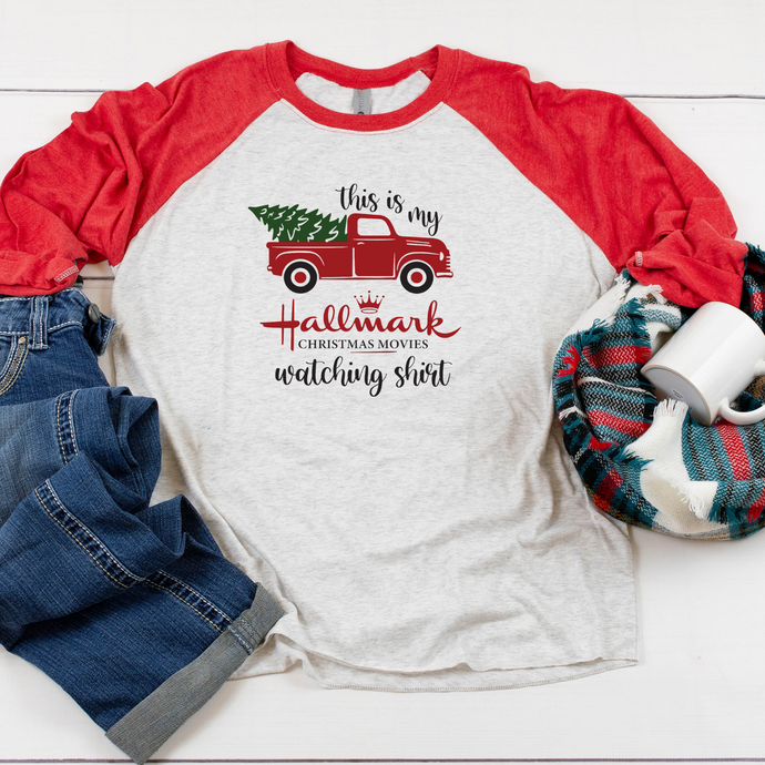 This is my Hallmark watching Shirt - Raglan