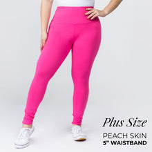 "Load image into Gallery viewer, Hot Pink 5"" Yoga Band Leggings"