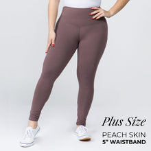 "Load image into Gallery viewer, Dusty Plum 5"" Yoga Band Leggings"