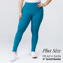 "Load image into Gallery viewer, Teal 5"" Yoga Band Leggings"