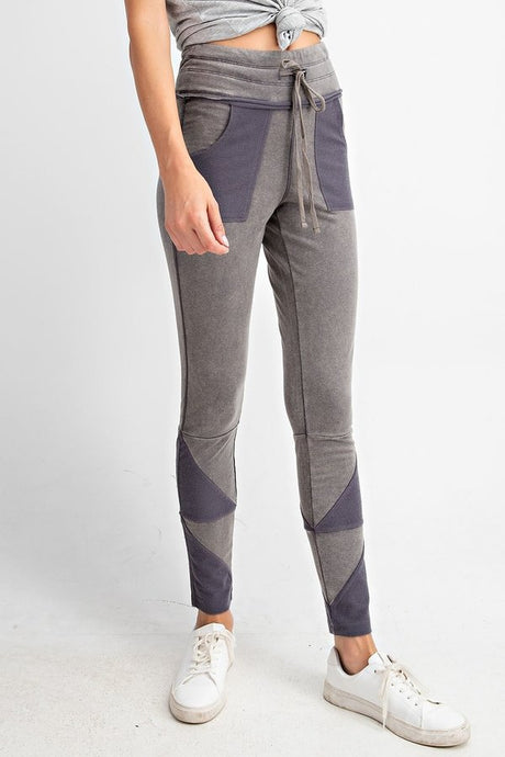 "Shadow Grey - Best Friend Pocket Joggers - 5"" Drawstring Yoga Band"