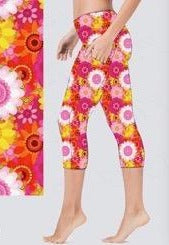 Summer Flowers Capri Leggings (kids)