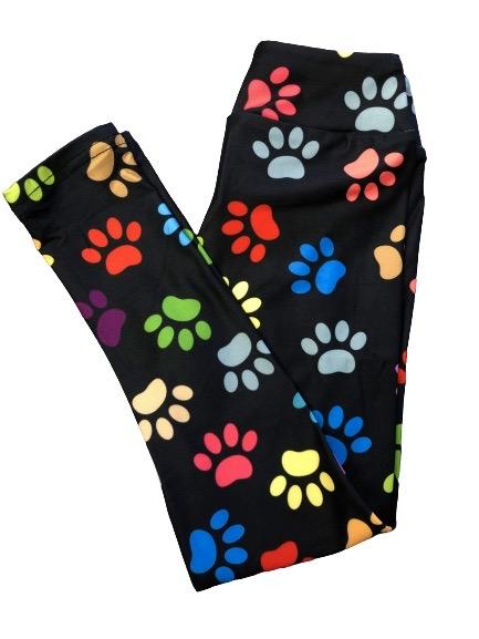 Rainbow Paws (kid size leggings)