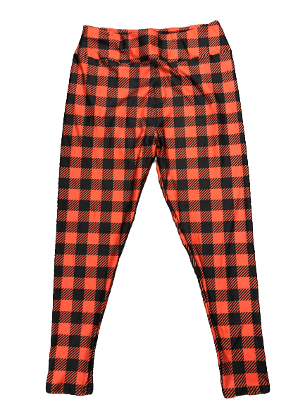 Buffalo Plaid Full Length Legging NO Pocket