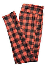 Load image into Gallery viewer, Buffalo Plaid Full Length Legging WITH pockets