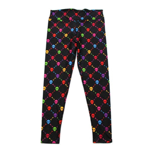 Rainbow Skulls Full Length Leggings