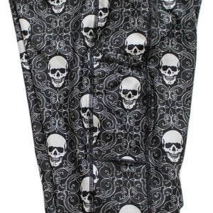 Damask Skulls Full Length Leggings with Pockets
