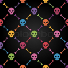 Load image into Gallery viewer, Rainbow Skulls Full Length Leggings