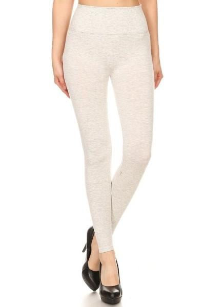 Heathered Gray 5in Waist Band Leggings