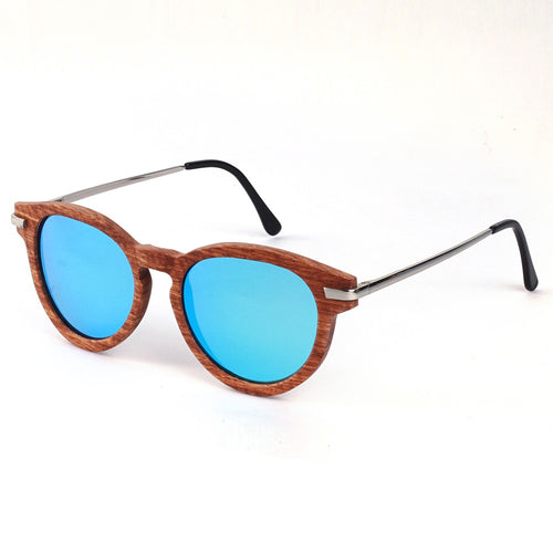 SKYDOVE KY253 Vintage Bamboo Sunglasses