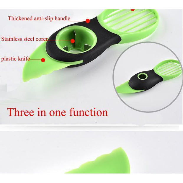 3 In 1 Avocado/Kiwi Cutting Gadget-Kitchen Gadget-Gourmet Gadget Gal