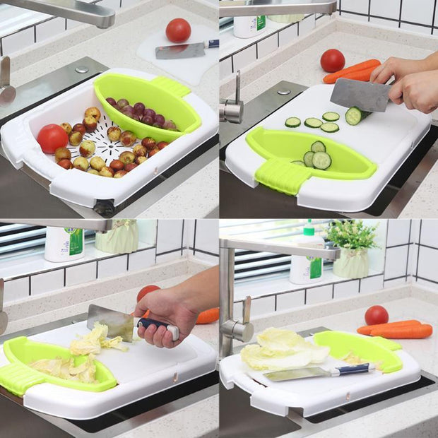 4 in 1 Multi-function Cutting Board-Kitchen Gadget-Gourmet Gadget Gal