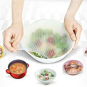 4 Pcs Reusable Silicone Bowl Wraps-Storage Gadget-Gourmet Gadget Gal