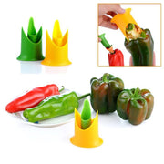 Pepper Corer, 2 Pieces-Vegetable Gadget-Gourmet Gadget Gal