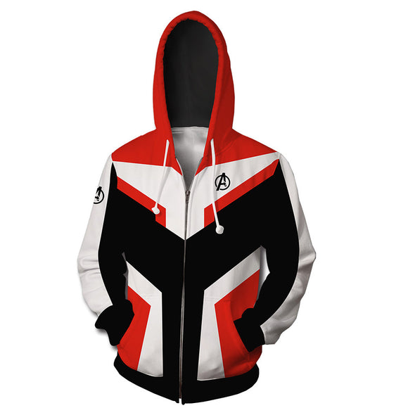 Avengers 4 Endgame Quantum Realm Cosplay Costume Hoodies Men Women Hooded Sweatshirt Sweater Zip Up Jacket Coats 3D Print