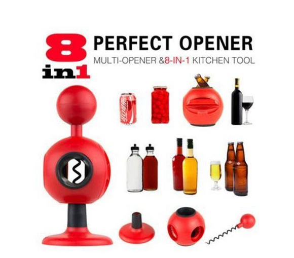 Perfect Opener Multi-function 8 In 1 Wine Jar Beer Bottle Can Household High Quality Home Bar Kitchen Tools - Ace198
