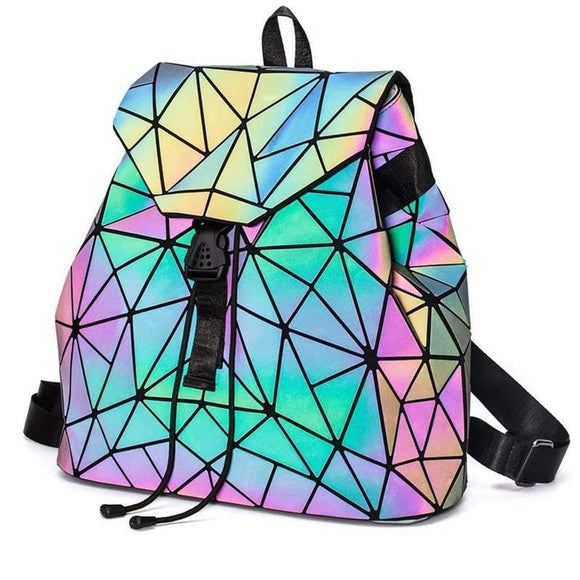 Luminous Geometric Rhombic Backpack - Ace198
