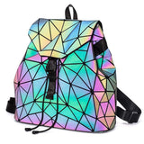 New Laser Luminous Package Geometric Rhombic Backpack - Ace198