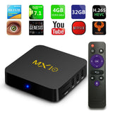 MX10 4GB DDR4 32GB eMMC Android 7.1 TV BOX - Ace198