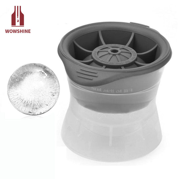 1PCS DIY Food Grade Silicone Ice Cube Mould Sphere Ice Molds Ice Ball Maker For Slow Melting Beverage Chillers For Bar