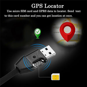 USB 2.0 A To Micro Charging Data Cable Spy Hidden Listening Device Vehicle GPS Activity Tracker Car Locator - Ace198