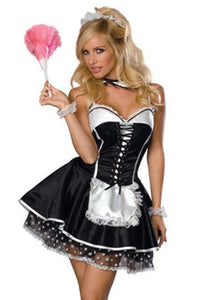 Sexy Women Dress UP Exotic Apparel Maid Sexy Late Nite French Maid Costume Servant Cosplay