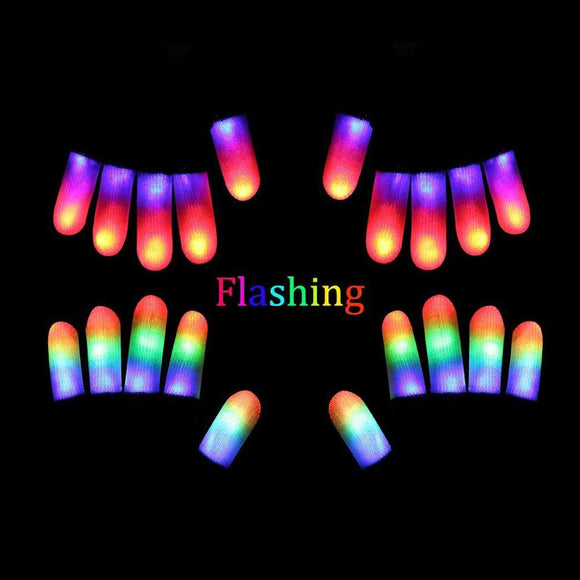 LED Party Quick Cell Nightclub Full Colorful Luminous Gloves Flashing Included Creative Finger Black Button Lights 7 - Ace198