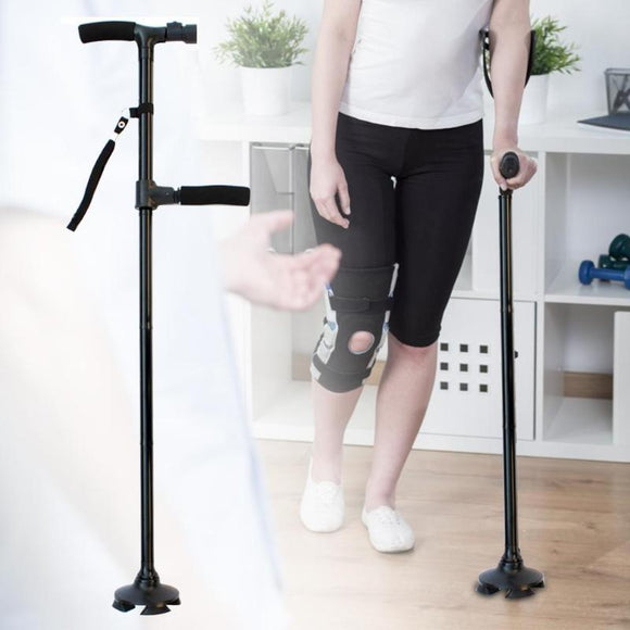 Telescopic Hurry Trusty Cane  Folding Canes LED Light Aged Walking Sticks Poles for the Elder ski camp telescopic baton outdoor hiking poles crutch - Ace198