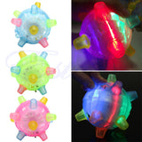 LED Jumping Joggle Light Music Flashing Bouncing Vibrating Jump Ball Toy - Ace198