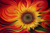 Flower 5D diamond cross stitch crystal full diamond sets unfinished decorative Diy Diamond painting sunflower - Ace198