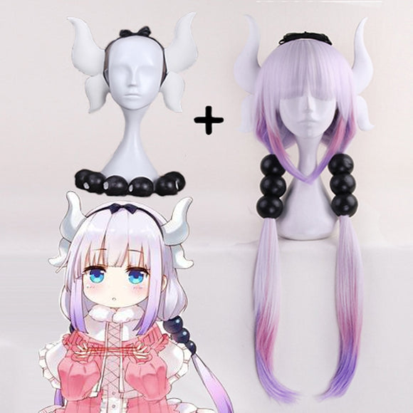 Miss Kobayashi's Dragon Maid Cosplay Wig Kanna Kamui Heat Resistant Synthetic Halloween Kobayashi San Chi No Maid Dragon Wigs