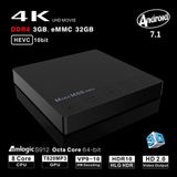 VONTAR V1 DDR3 2G 16G Android 7.1 TV Box Amlogic S912 Octa Core 2.4G/5G Dual Wifi H.265 VP10 HDR10  Mini M8S PRO Set - Ace198
