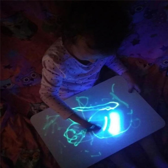 Glowing Paint Glow Light Tablet Draw With Light Fun And Developing Toy - Ace198