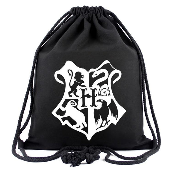 Harry Potter Hogwarts Printing Drawstring Bag Backpack