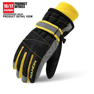 NANDN Ski Gloves Snowboard Gloves Snowmobile Motorcycle Riding Winter Gloves Windproof Waterproof Unisex Snow Gloves - Ace198